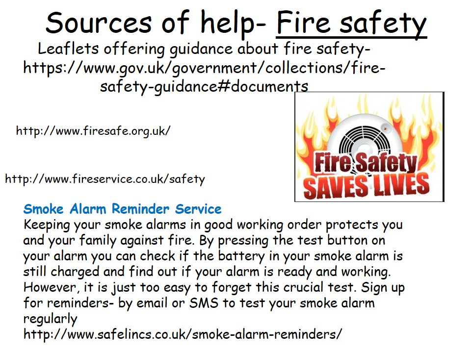 Sources of Help Fire Safety