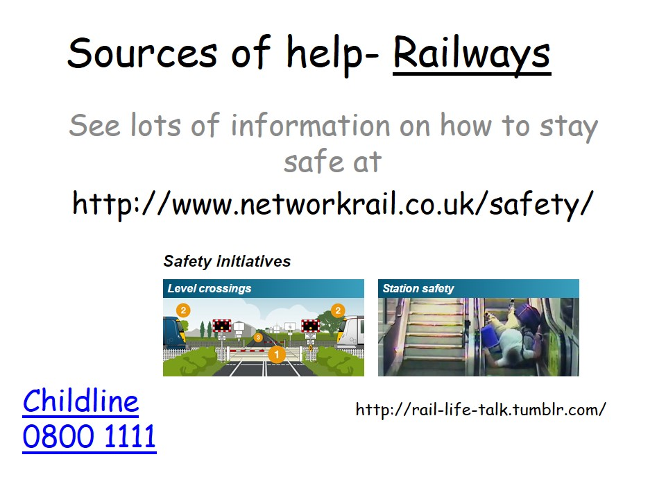 Sources of Help Railways
