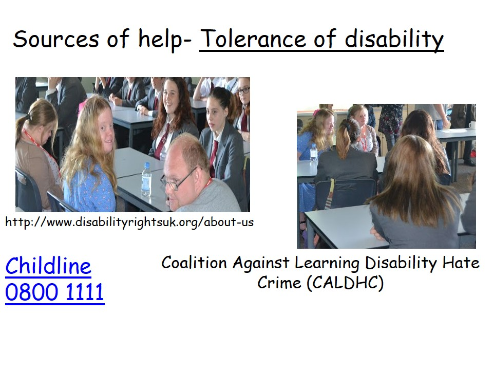 Sources of Help Tolerance of Disability