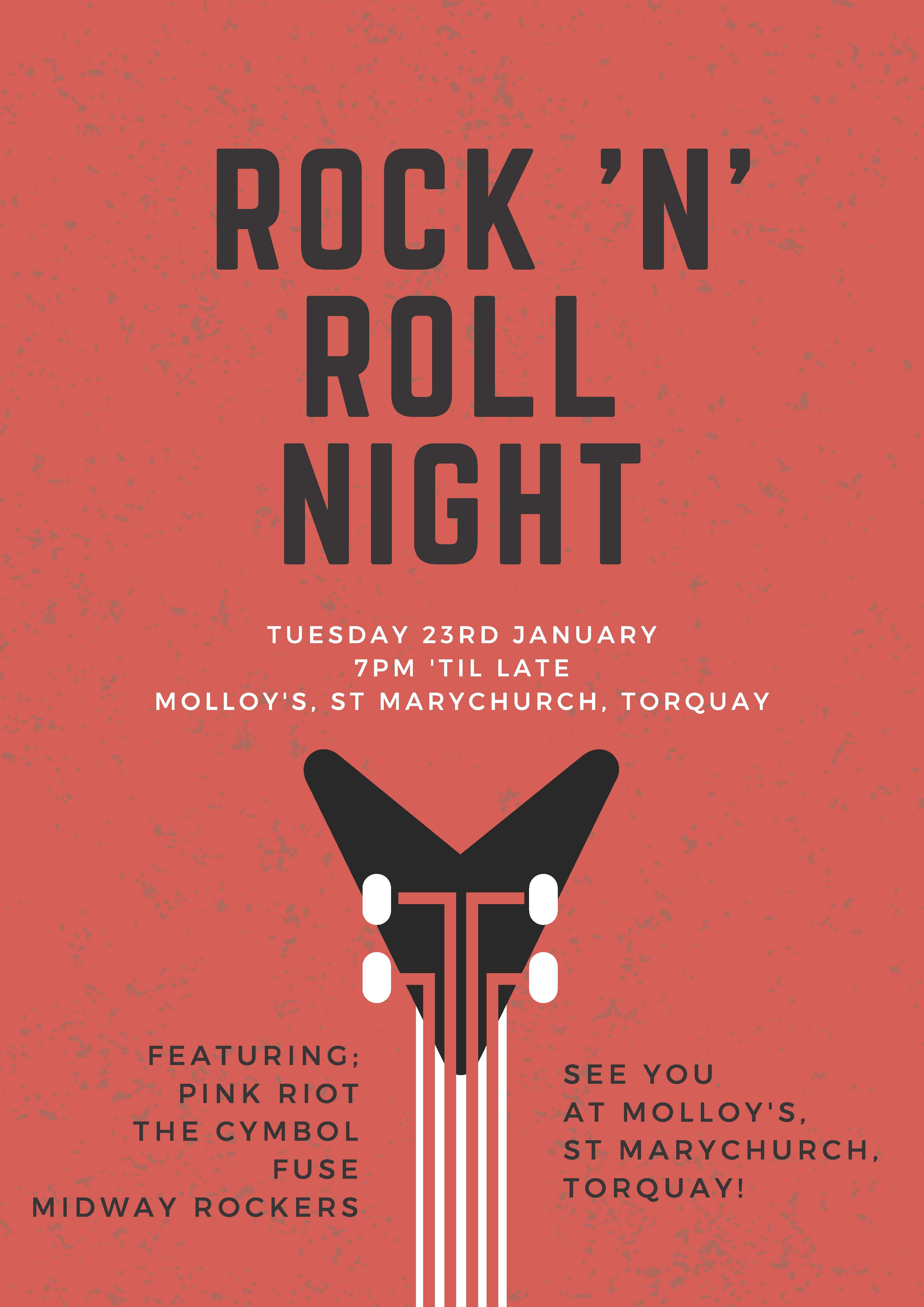 Rock and Roll Open Mic Night Poster
