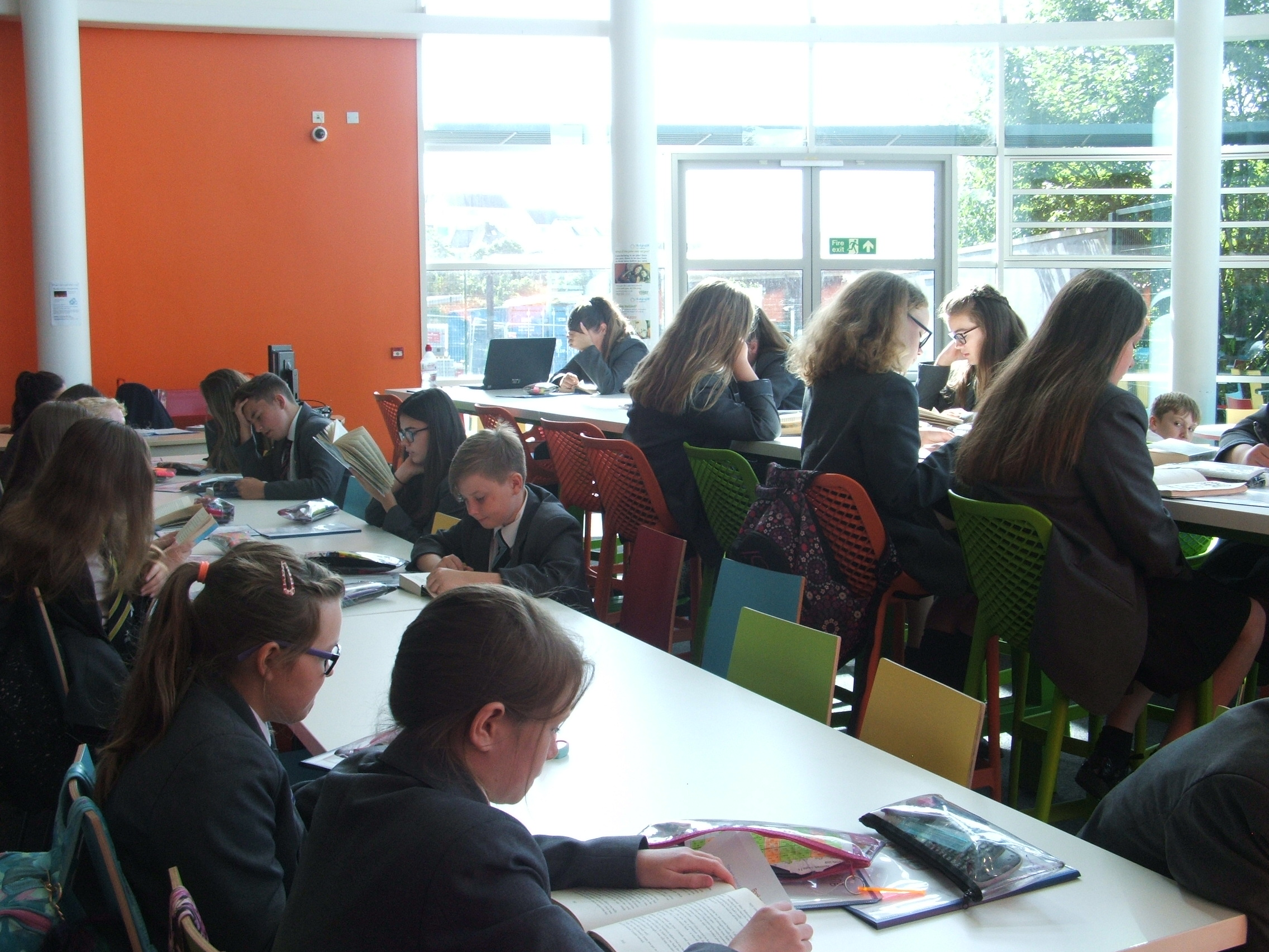 6.7.18 Year 7 library lesson