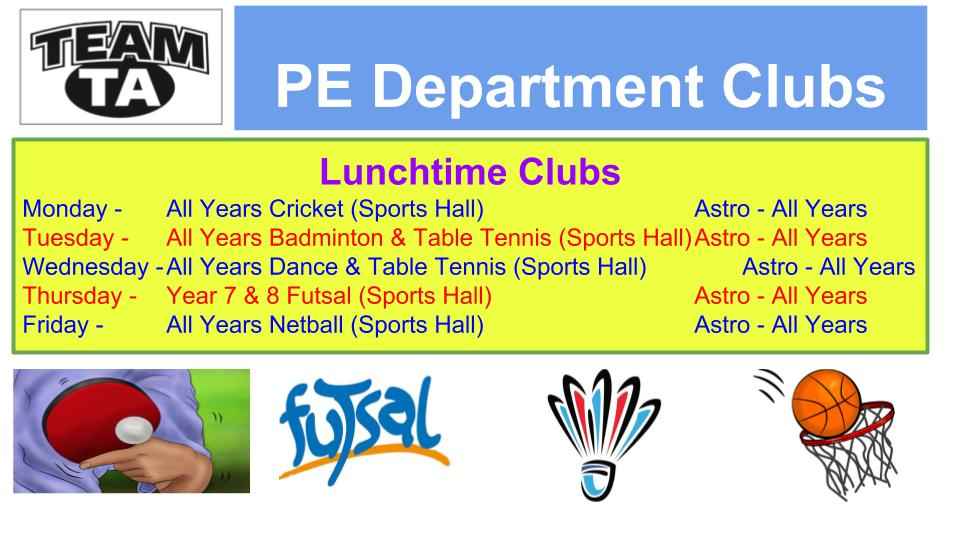 PE Department Clubs 2